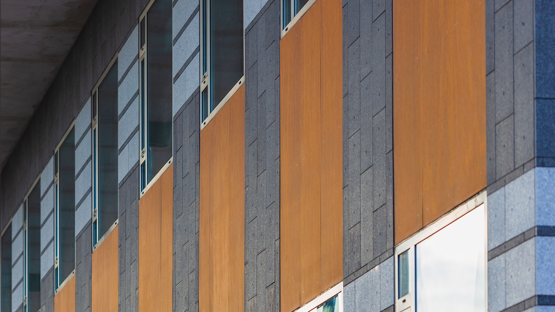 abstract view of office building exterior